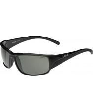 4abdc9d293ccf6 Bolle Keelback brillant polarisées lunettes de soleil noires tns