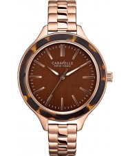 Caravelle New York 44L128 carla Ladies or rose montre bracelet en acier